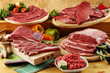assorted raw beef meat - 63808842