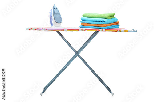 Studio shot of an ironing board