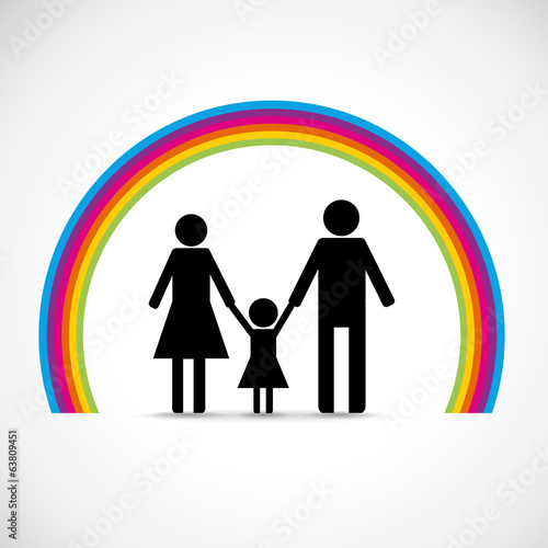Rainbow family icon.