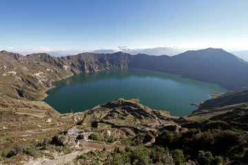 Crater Lake Quilotoa Volcano