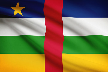 Series of ruffled flags. Central African Republic - CAR