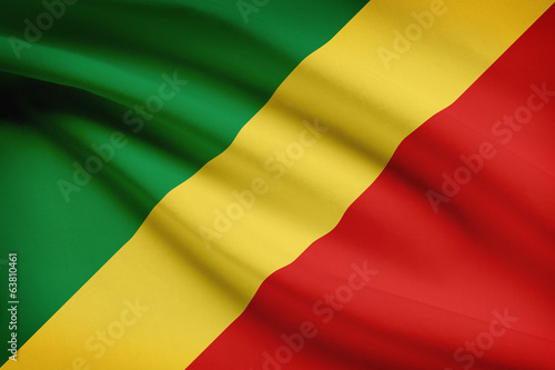 Series of flags. Republic of the Congo. Congo-Brazzaville.