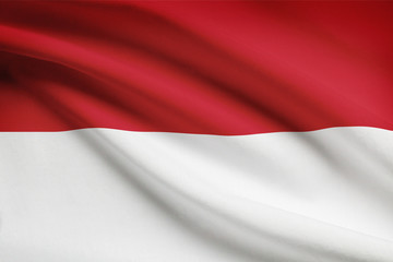 Series of flags. Unitary Presidential Republic of Indonesia.