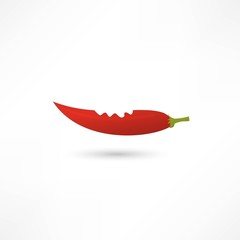 Icon of red hot chili pepper