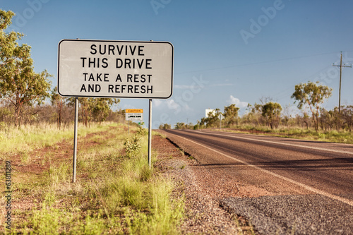 Road sign in Northern Territory