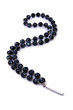 Dark pearl necklace isolated on the white