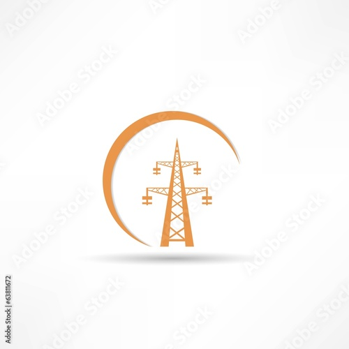 Power transmission tower icon