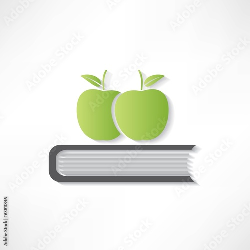 icon of book & apple