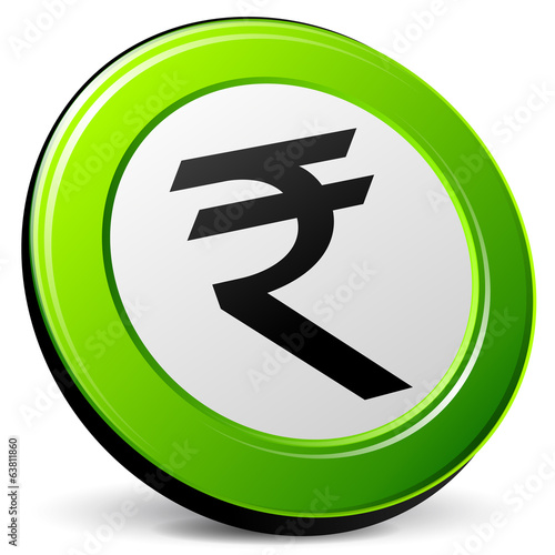 Vector green rupee icon