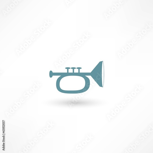 Vector illustration of trumpet