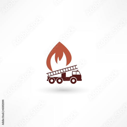 Vector illustration of a fire engine