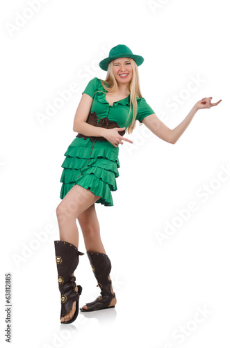 Woman in saint patrick concept