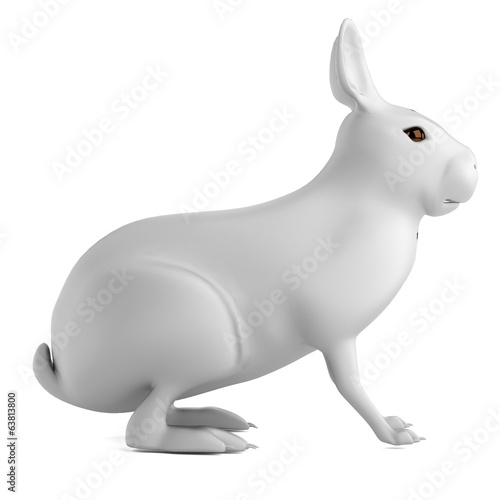 realistic 3d render of rabbit