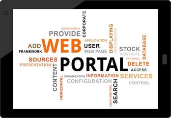 word cloud - web portal