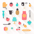 Vector Illustration of Bakery Icons