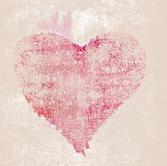 grungy effekt - abstrakt vektor - Herz