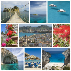 Collage from Zakynthos