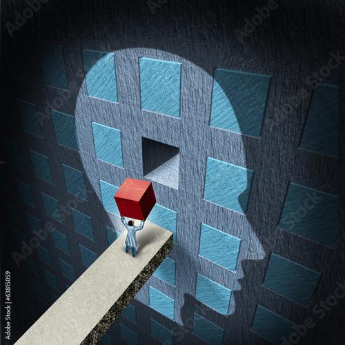Leinwanddruck Bild Psychology Therapy