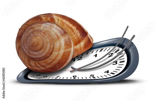 Leinwanddruck Bild Slow Service