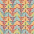 Seamless pattern with color butterflies