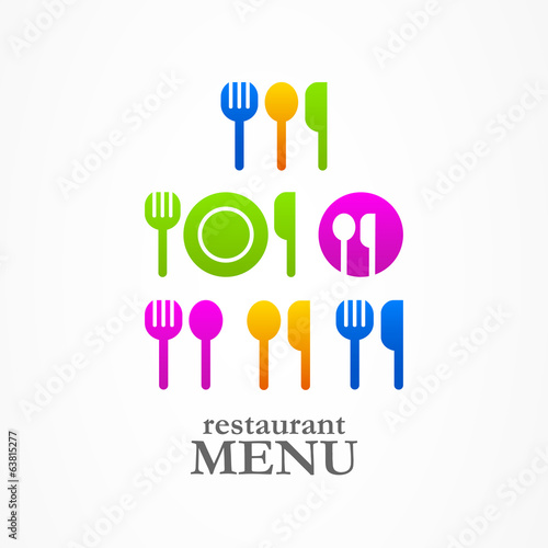 Kitchen spoon fork knife web icons