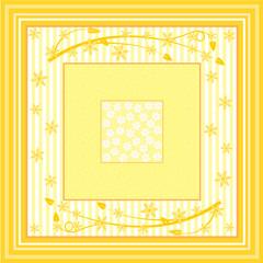 Unterschiedlich große Quadrate mit verschiedenen Mustern