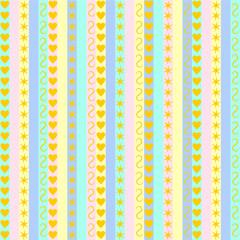 Pastellbunte Streifen mit verschiedenen Mustern