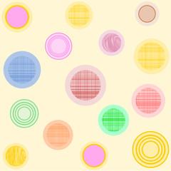 Verschieden gemusterte Kreise