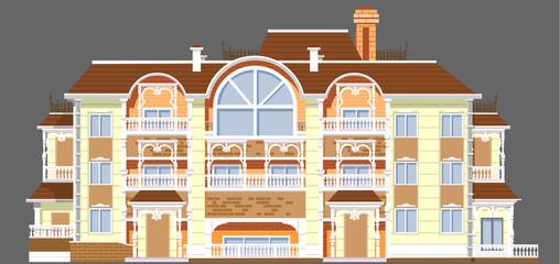 beautiful three-story house