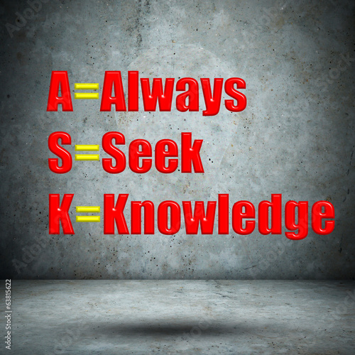 Always Seek Knowledge on concrete wall
