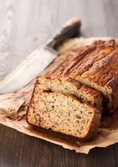 Homemade bread cake. Gluten-free.