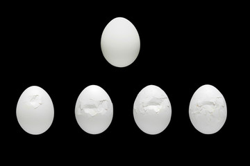 white egg crushing process