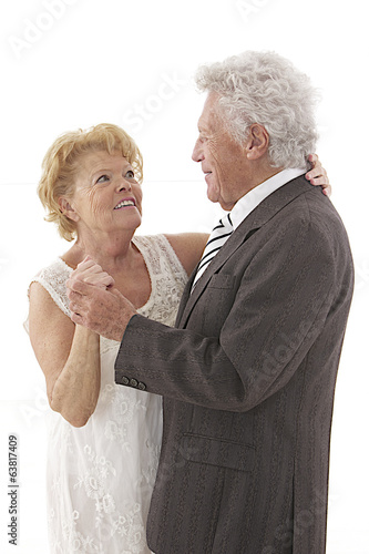 Happy senior couple dancing