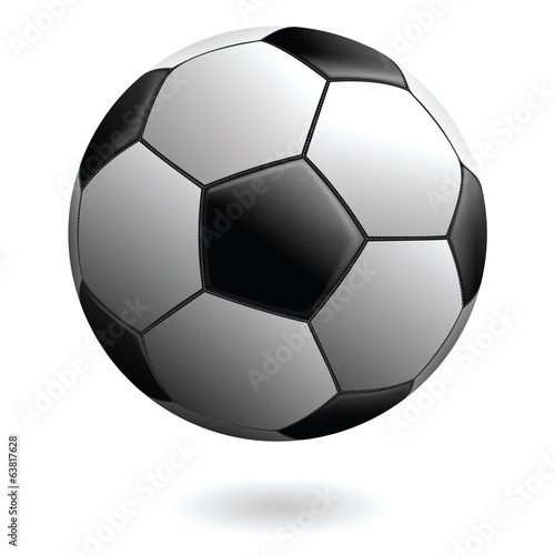 Vector Soccer Ball, Isolated on White, With a Realistic Look