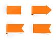 Schilder Aufkleber orange