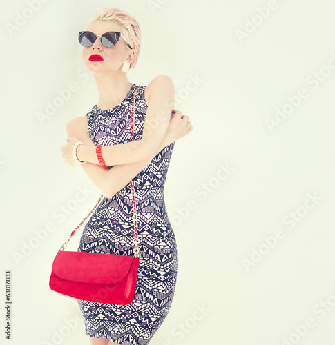fashion portrait of a stylish girl