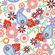 abstract paisley seamless background