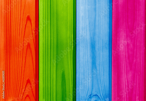 colored wooden planks backdrop