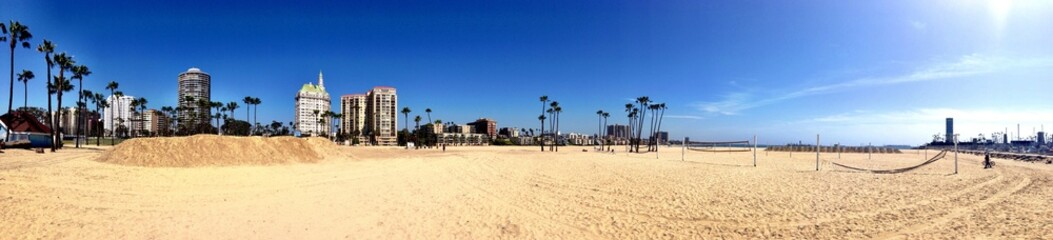 Long Beach sunny view CA