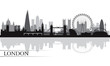 London city skyline silhouette background - 63819879