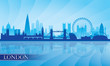 roleta: London city skyline silhouette background