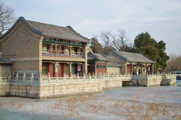 Ancient Traditional Colorful Houses - Summer Palace, Beijing