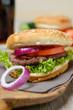Veganer Bohnenburger