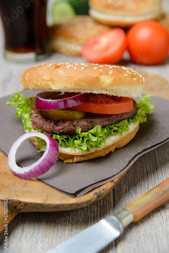 Veganer Bohnenburger