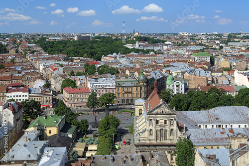 View of Lviv from the tower of Lviv City Hall, Ukraine