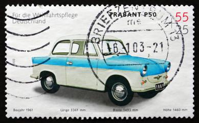 Postage stamp Germany 2002 Trabant P50, 1961, Automobile