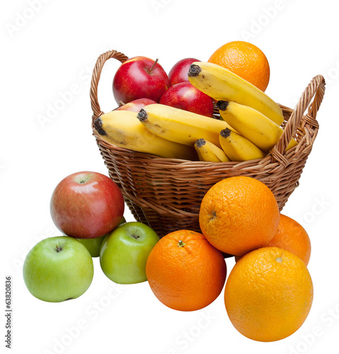 Fruit in a basket.