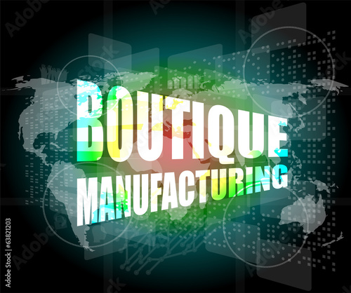 words boutique manufacturing on touch screen technology
