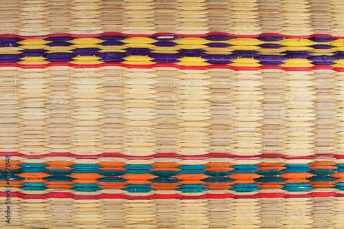 colorful palm leaves mats
