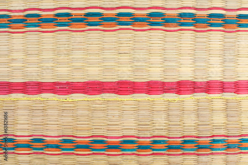 Textured pattern of weaving colorfu mat